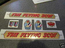 FLYING SCOT decals. Mega-swanky set! 7-in set. MINT