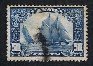 AFFORDABLE GENUINE CANADA SCOTT #158 VF POSTALLY USED 1929 BLUENOSE  ESTATE SALE