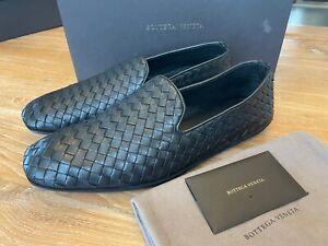 BOTTEGA VENETA Intrecciato Black Leather 324658 Loafers US10 Euro 43, NWB $900