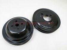 Black Water Pump Crank Pulleys Big Block Chevy 396 454 Swp 2 Groove Hot Rod Bbc