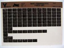 Yamaha FZ600 1986 1987 FZ600S SC FZ600T TC Parts List Manual Microfiche N69
