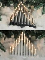 33 Bulb Candle Bridge Modern Christmas Xmas Window Decoration Black White Silver