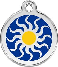 Tribal Sun Enamel/Solid Stainless Steel Engraved ID Dog/Cat Tag