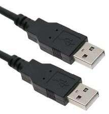 1Ft 1FEET USB2.0 Type A Male to Type A Male Cable Cord Black