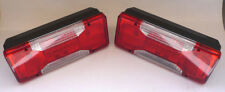 2x REAR TAIL LIGHTS LAMPS CHASSIS CAB TIPPER LUTON PICK UP IVECO DAILY '06 ON