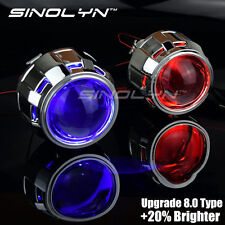 Upgrade 8.0 2.5'' H1 HID Bi-xenon Projector Lens Retrofit W/ Devil Demon Eyes