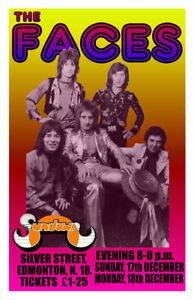 THE FACES REPLICA 1972 CONCERT POSTER