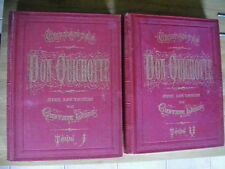 DON QUICHOTTE CERVANTES DESSINS DE GUSTAVE DORE 2 TOMES 1869