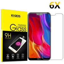 6-Pack Khaos For Nokia 6.1 Plus/Nokia X6 2018 Tempered Glass Screen Protector