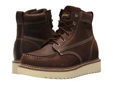 "Wolverine Loader 6"" Wedge Leather Upper Work Boot Soft Toe Brown W10744 For Men"