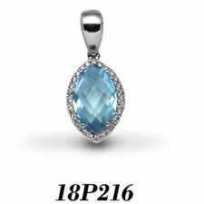 Blue SI1 Fine Diamond Necklaces & Pendants