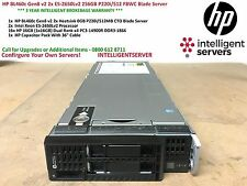 HP BL460c Gen8 v2 2x E5-2650Lv2 256GB P220i/512 FBWC Blade Server 735151-B21