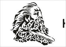 Wandschablone Maler T-shirt Schablone W-508 Wikinger ~ UMR Design
