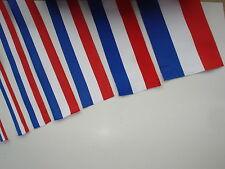 Ruban tricolore BLEU BLANC ROUGE en tissu - largeur au choix - France français