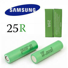 2x Samsung 25R 2500mAh INR18650 25r Lithium  Rechargeable Battery 20A