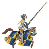 Safari Ltd jousting Knight/'s HORSE with blue Robe /& fleur de lis # 62022