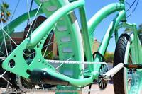 Fat Tire Beach Cruiser - SOUL MISS STOMPER - MINT GREEN 1 speed ladies