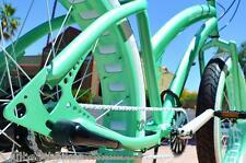 26x4 Fat Tire Beach Cruiser Bike - SOUL MISS STOMPER - MINT GREEN SINGLE SPEED