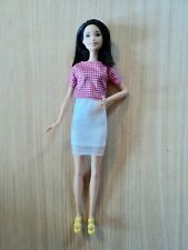 Barbie Tall Fashionistas Doll In A White Skirt & Check Blouse. Series No 30