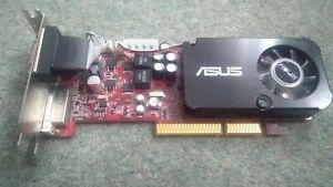 ASUS ATI RADEON HD3450 AGP 512MB PC VIDEO GRAPHICS CARD DVI HDMI VGA LOW PROFILE