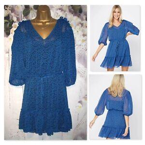 NEW GEORGE DRESS PLUS CURVE SIZE 22, Blue chiffon 2 piece Party Occasion dress