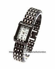 Omax Ladies White Dial Watch, 2-Tone Finish, Seiko (Japan) Movt. RRP £49.99