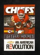 Priest Holmes--1995 Kansas City Chiefs Pocket Schedule--Chevrolet