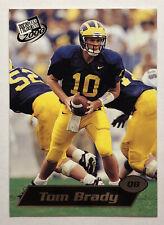 Tom Brady RC 2000 Press Pass Football ROOKIE Card #37 Michigan GOAT