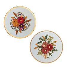 2Set Embroidery Starter Kits Handmade Flower Cross Stitch Set DIY Needlework