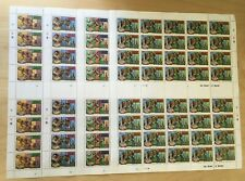 FULL SHEETS Grenadines 1980 383-6 - Moscow Olympics - Set of Sheets - MNH