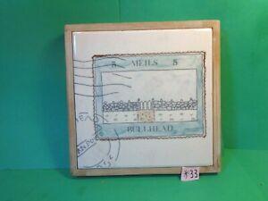 "Meils Bullhead 6 3/4"" x 6 3/4"" Trivet, 1983 Artile (Used/EUC)"