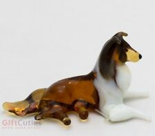 Art Blown Glass Figurine of the Sheltie Collie Shetland Sheepdog dog
