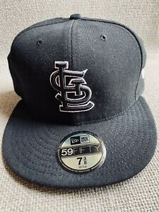 ST LOUIS CARDINALS HAT BASEBALL CAP MLB 59 FIFTY FITTED 7 3/8 White