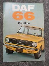 Daf 66 1100 Marathon 1972 UK Market Sales Brochure Saloon Coupe Estate