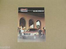 1986 GMC Suburban High Sierra Classic sales brochure dealer catalog