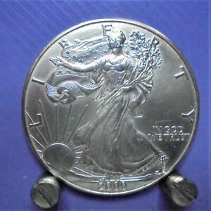 2000 USA 1oz Fine Silver 99.99% Eagle Walking Liberty $1 Coin U.K. only.