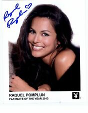 Raquel Pomplun Playboy Model Signed 8x10 Photo Playmate of Year 2013 Autograph
