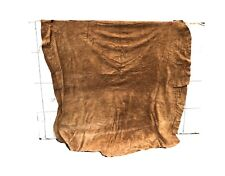 Butw About 25 sqft 4-5 oz sueded cow leather hide brown suede 1543x