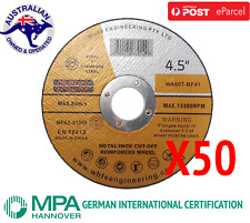 "50x 115mm 4.5"" CUTTING DISC WHEELS ANGLE GRINDER CUT OFF METAL STEEL THIN BLADES"