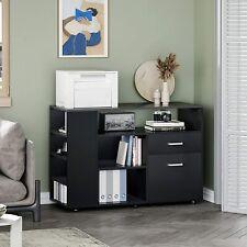 New Listingwood Rolling Filing Storage Cabinet With2 Drawer Amp Adjuatable Shelves Home Office
