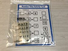 Addition (Set Of 10) Laminated Activity Cards With 55 Number Tiles- 0-9