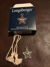 Longaberger 2001 Inaugural Pewter Star tie-on - new in box