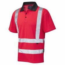 Leo Workwear P04 Georgeham Hi-Vis Red Polo Shirt - Size 2XL | 3XL
