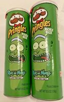 Lot of 2 Pickle Rick & Morty Dill Pringles 5.5oz Special Edition