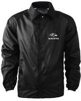Dunbrooke Apparel NFL Baltimore Ravens Coaches Windbreaker Jacket Black Size 2XL