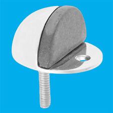Aluminium Oval Screw In Anti-Turn Floor Door Stop Rubber Protected Stopper