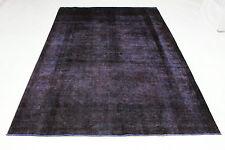 Vintage Orient Teppich lila 330x220 modern Used Look carpet handgeknüpft 3580