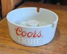 New listing Coors Light Grey Plastic Round Ashtray -Brookpark
