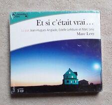 LIVRES CD AUDIO / ET SI C'ÉTAIT VRAI... DE MARC LEVY - COFFRET 3 CD NEUF SEALED