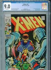 1969 MARVEL X-MEN #57 NEAL ADAMS SENTINELS 1ST LARRY TRASK CGC 9.0 WHITE BOX12